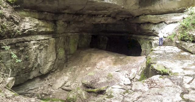 Hubbards Cave entrance, Hubbard's Cave Preserve, Warren County, Tennessee 1