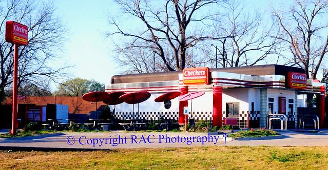 Checkers Hamburger - Oak Cliff ( Dallas ) Tx Demolished