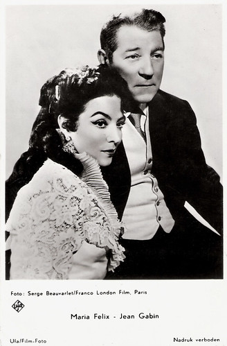 Jean Gabin and Maria Félix in French Cancan (1954)