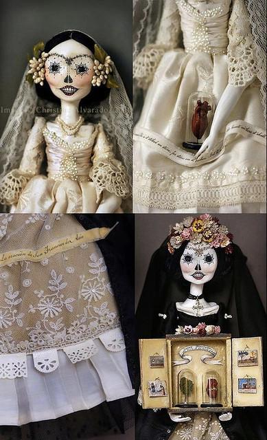 Calavera Catrina Art Dolls