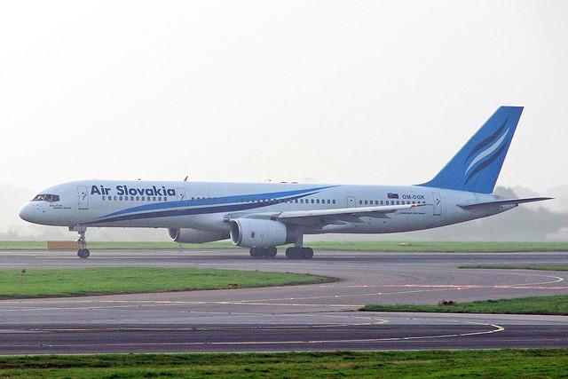 OM-DGK Boeing 757-236 Air Slovakia MAN 16OCT05