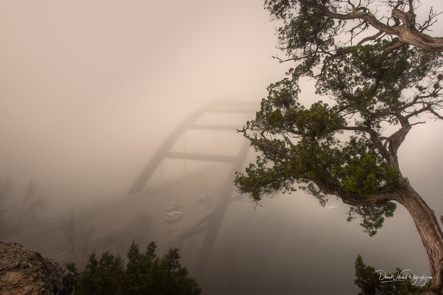 Pennybacker Bridge in the Fog