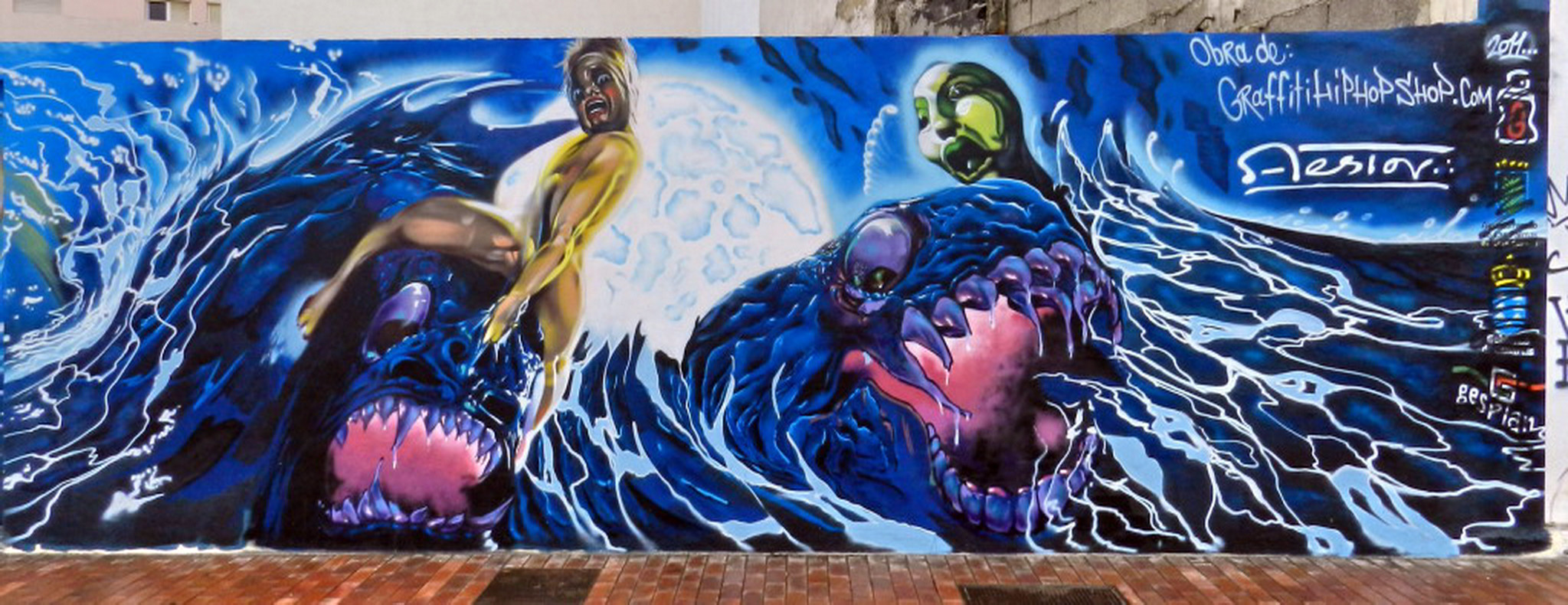 graffiti La Noche Poema del Atlántico obra de hiphopshop.com copia de Nestor de La Torre Las Palmas de Gran Canaria