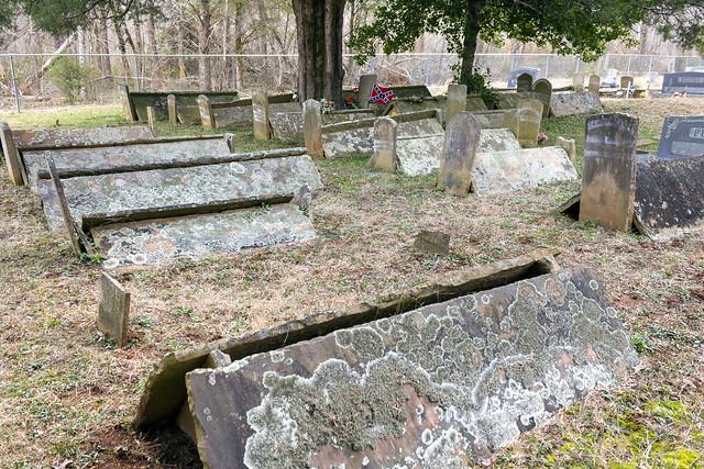 Comb graves, Polk Bilbrey Cemetery, Overton Co, TN