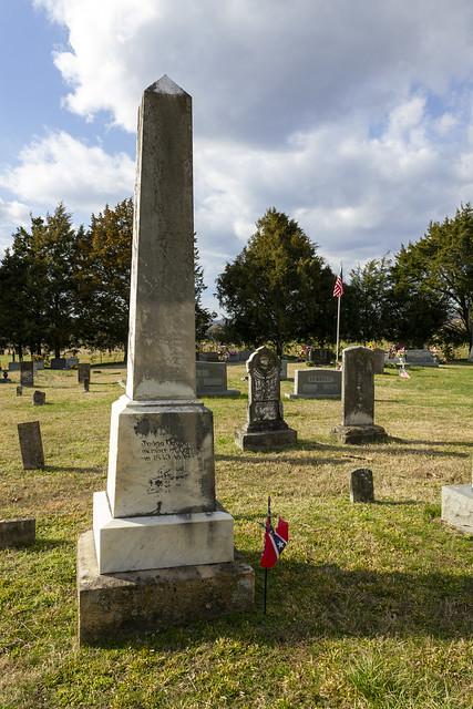 Judge Alvan Cullum's grave, Bethlehem Cemetery, Overton County, Tennessee