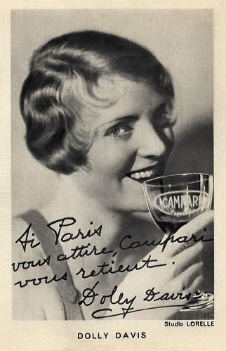 Dolly Davis, publicity for Campari