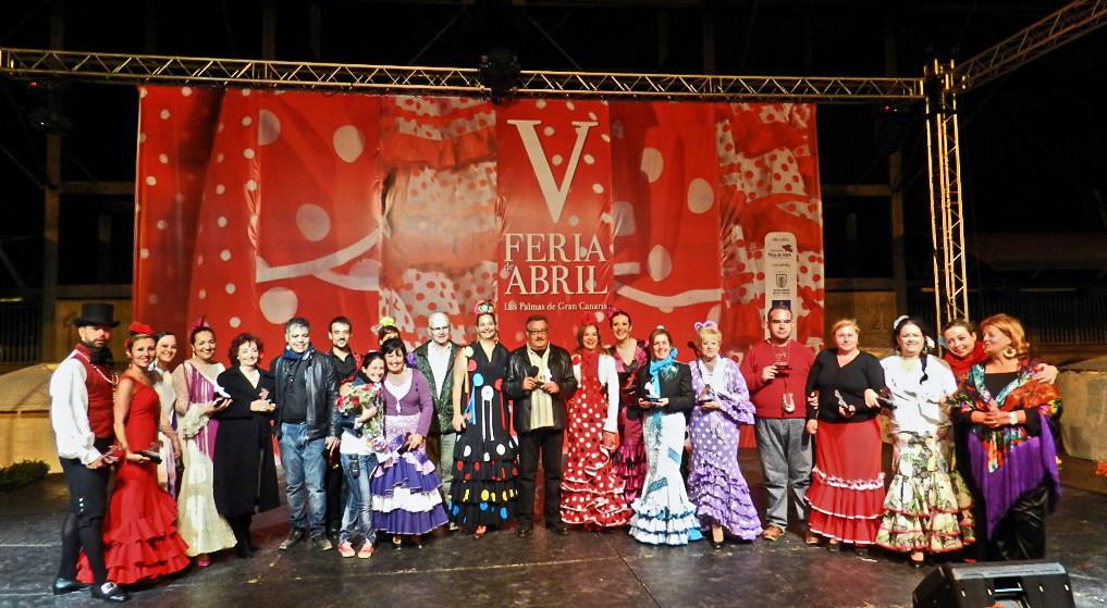 Despedida participantes V Feria de Abril Las Palmas de Gran Canaria 2012