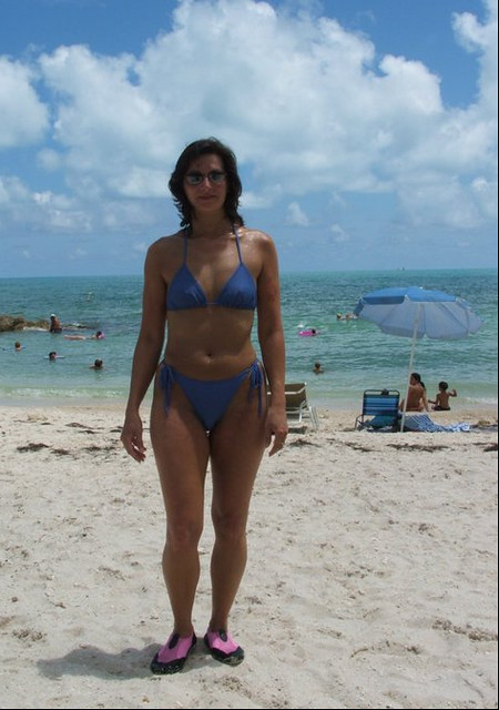 Susan at Fort Zach Beach in Key West Florida