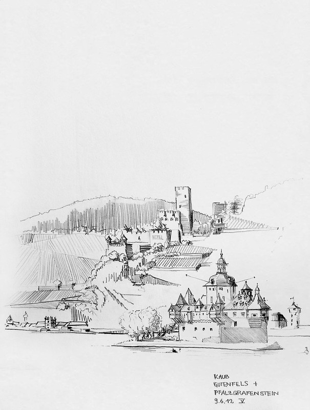 Kaub, Castles Pfalzgrafenstein and Gutenfels