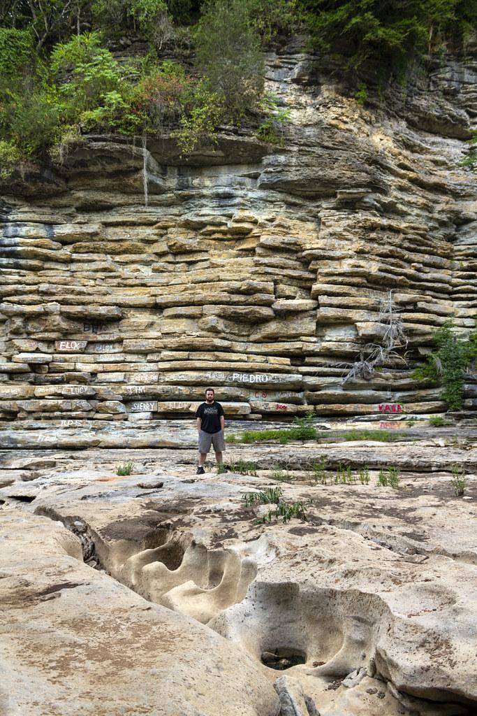Potholed limestone, Overton Co, TN