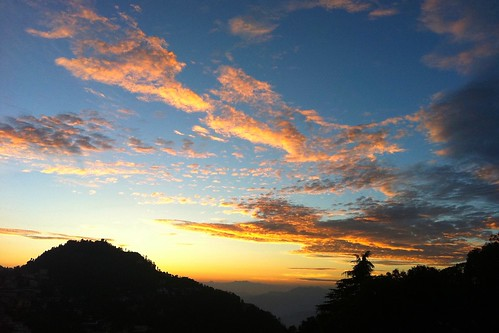 sunset sky india mountains mussoorie uttarakhand