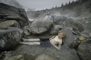 Hunter's private pool