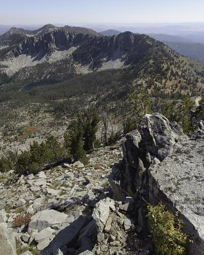 lake lichen mountain outcrop trinitymountain idaho