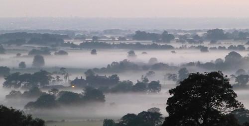 trees sunset mist landscape evening countryside lancashire fields longridge ribblevalley lancashirelass blinkagain birksbrow bestofblinkwinners lancashirelassphotos suebristo