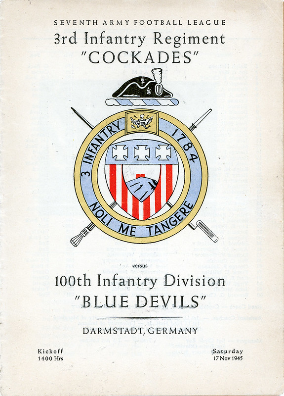 Football Program-1945-11-17-3rd Inf Regiment vs 100th Inf Division-01