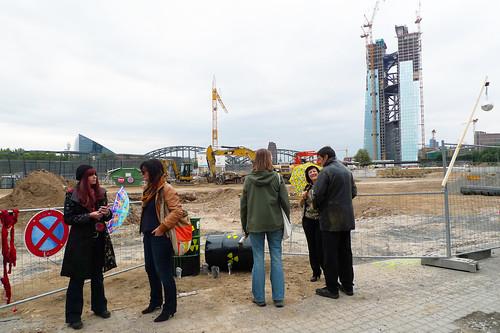 Freiluftausstellung von Familie Montez an der Honsellbrücke  September 2012