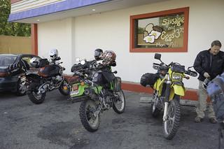 Motorcycles at Rockies Diner