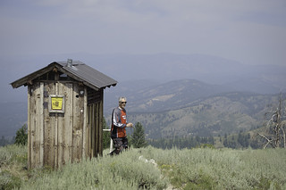 Outhouse photo-op