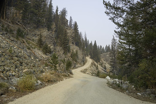 Road into the campground