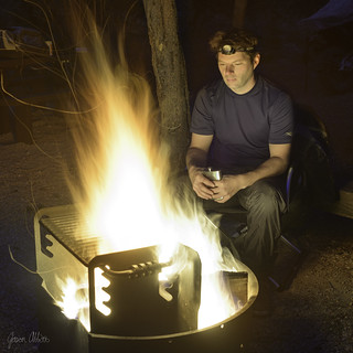 Flask by the fire