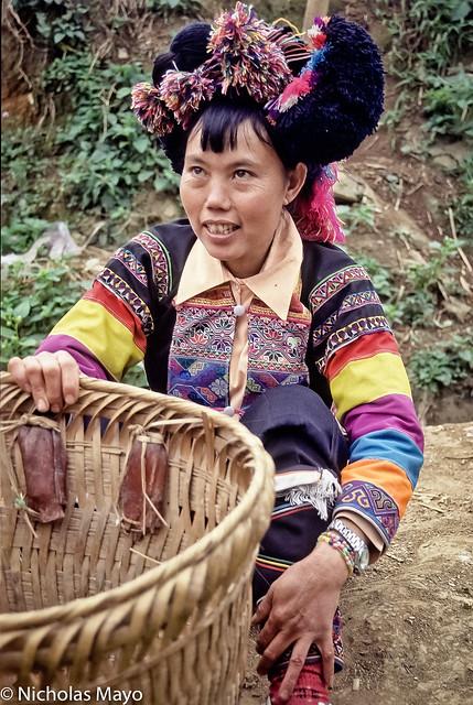 Black Hani Woman With Basket