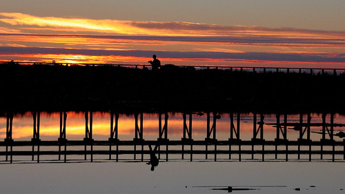 sunset aveiro portugal europe