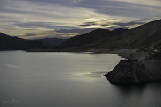 Fading light above Arrowrock Reservoir