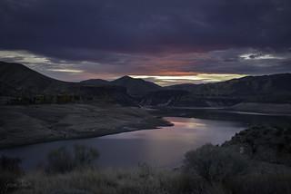 Sunset over Lucky Peak