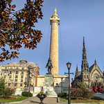 Washington Monument at Mt. Vernon Place in Baltimore, Maryland