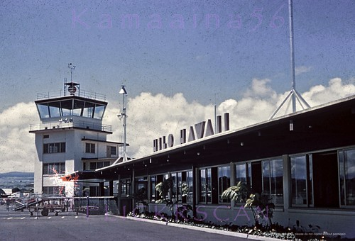1950s bigisland hilo hawaii airport slide