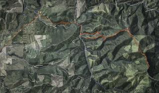 Mountain route to Laird Park