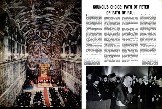LIFE Magazine, November 2, 1962 (4) - Councils Choice: Path of Peter or Path of Paul