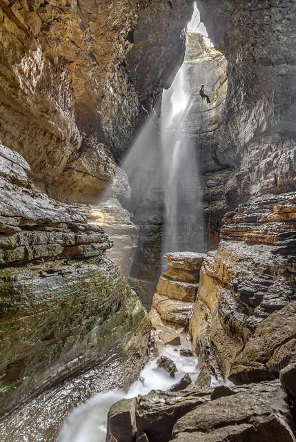 Stephens Gap Cave, Pit entrance, Stephens Gap Callahan Cave Preserve, Jackson County, Alabama