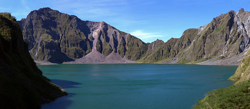 panorama lake volcano mount crater pinatubo peaceonearthorg