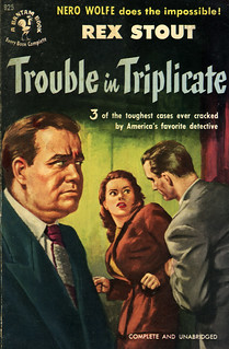 Bantam Books 925 - Rex Stout - Trouble in Triplicate