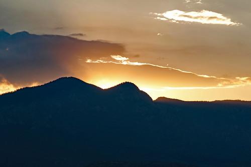 colorado coloradosprings scenery view landscape mountain sunset rampartrange
