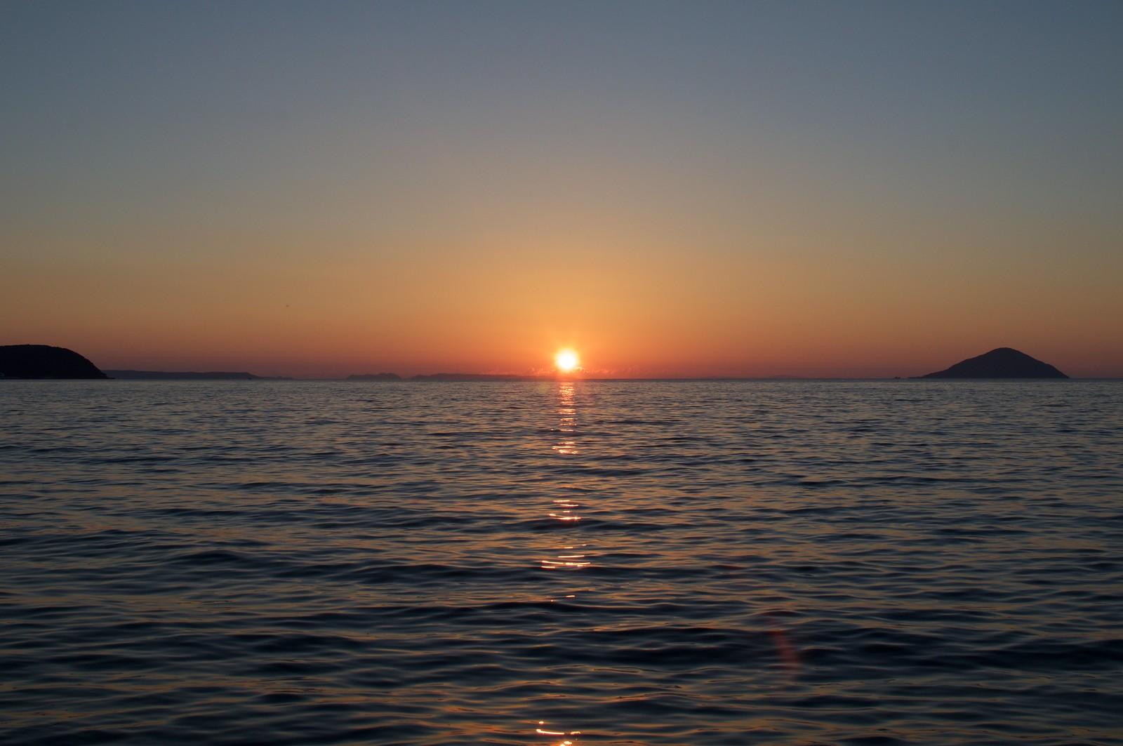 深江海岸の夕焼け