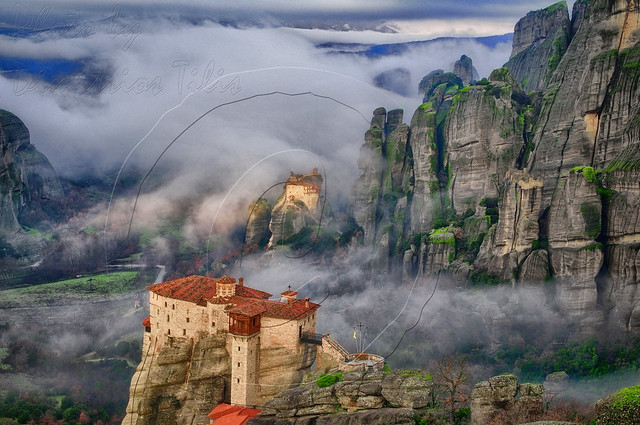 Meteora between earth and sky