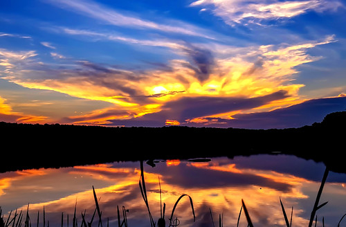 sunset lake reflection nature photography sunrisesunsetsceniccloudssky