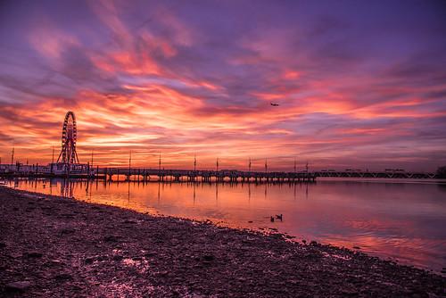 blue sunset golden bluehour potomacriver nationalharbor