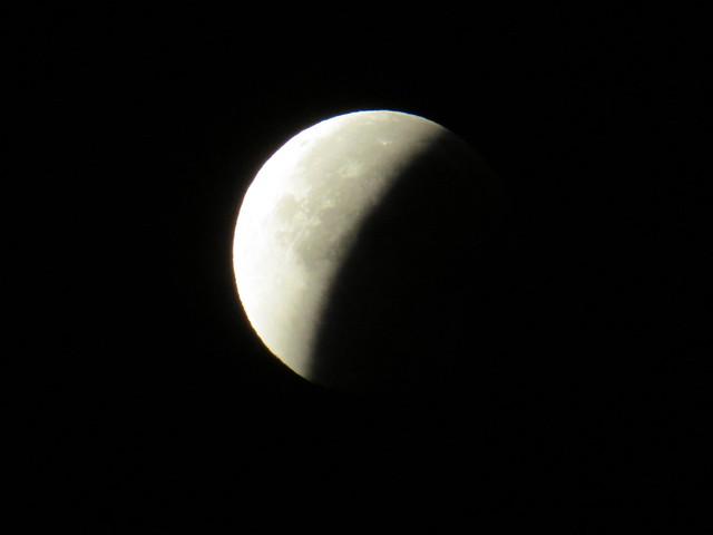 lunar eclipse 28. September 2015 view at 0351 UTC