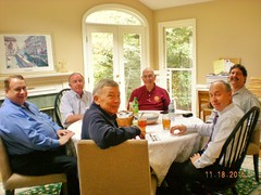 Charlie Stegall, Steve Wood, Terry Hutchens, Frank Bouknight and Mark Duerst were hosted at Erik Grunwalds office.