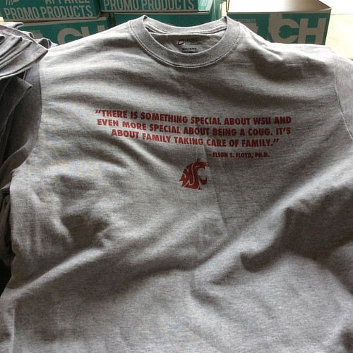 #IHeartEFlo shirts for students and attendees of the Floyd Celebration of Life - Section 32 in Beasley #WSU #GoCougs