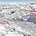 Mapa Čtyři údolí - Verbier
