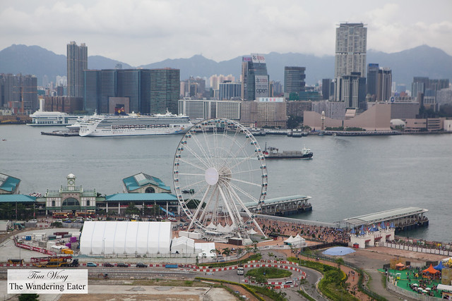 View of Hong Kong Observation Wheel, Victoria Harbour and Tsim Sha Tsui (Kowloon)