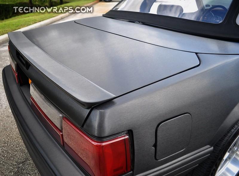 Brushed Black Metallic car wrap