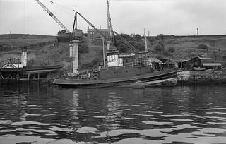 Refurbishing tug boats at Bill Quay