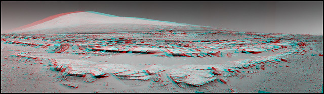 Mars - Mount Sharp - 3d