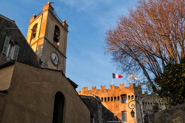 Church from Cagnes sur Mer in France