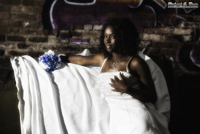 Model shoot - abandoned Factory - Wedding Dress